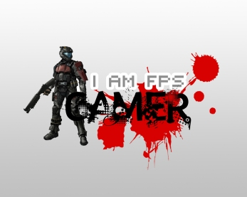 "Wallpaper ""I am fps gamer"""